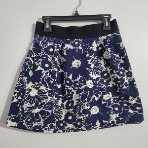 Forever 21 Navy Floral Skirt Size XS